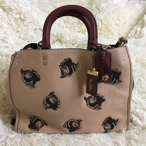 Coach Rogue Beechwood With Rose Embellishment